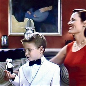 The scene from Stuart Little, showing the painting in the background.