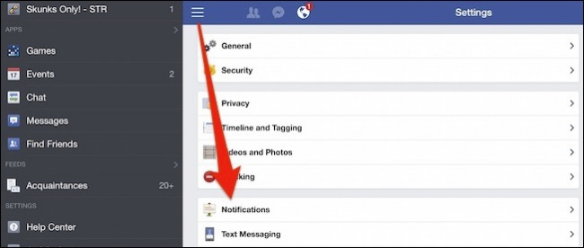 how to delete notifications on facebook android