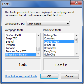 how to choose default font in word