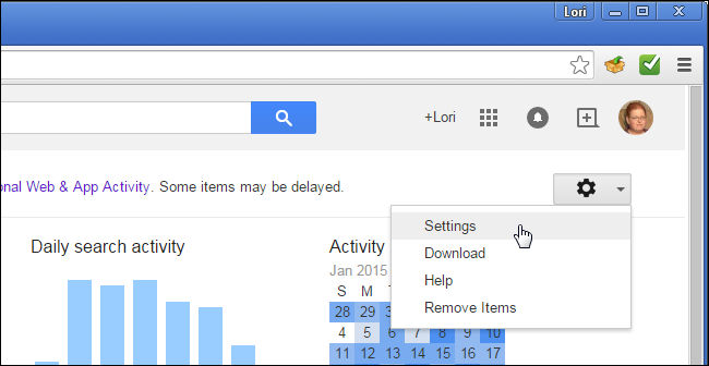 how to view google account search history