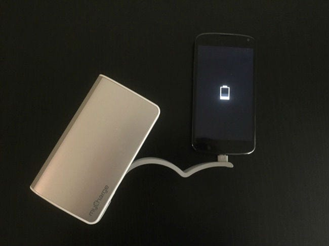 charging android phone with external battery pack