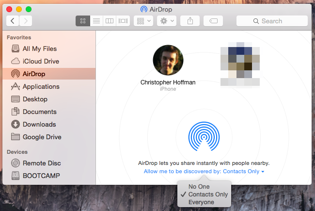 Airdrop 101 easily send content between nearby iphones ipads and macs using airdrop on a mac ccuart Images