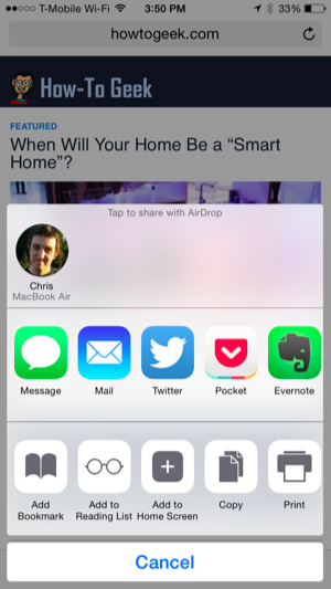 Airdrop 101 easily send content between nearby iphones ipads the person youre airdropping to will see a notification on their device informing them that you want to send them some sort of content a web address ccuart Image collections