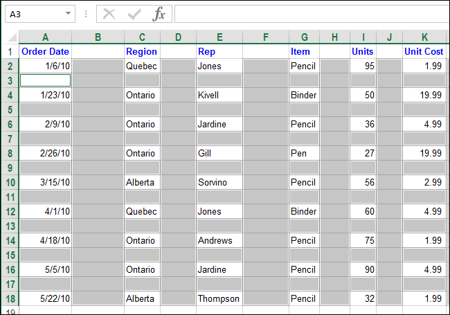 how to quickly and easily delete blank rows and columns in excel