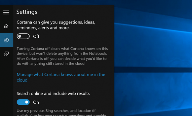 cortana search box not showing