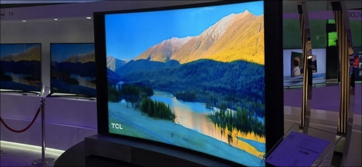tcl curved 4k tv at ces 2015