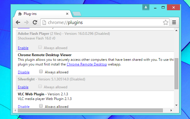 disable plugins