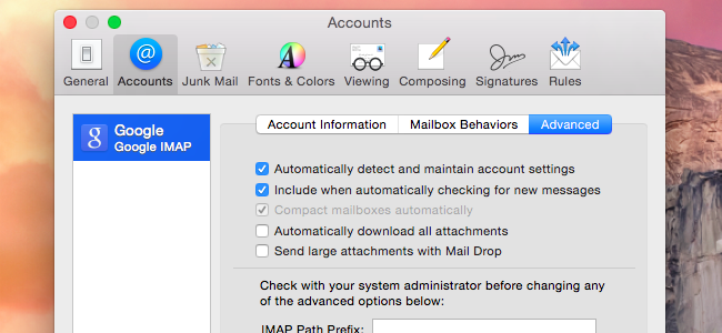 How to stop your macs mail app from wasting gigabytes of space failing this you can only hope to control the amount of messages mail downloads via server settings on your email server for example gmail offers a ccuart Images