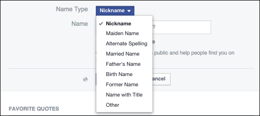 How to Add Nicknames to Your Facebook Profile