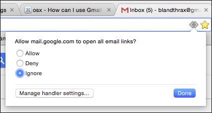 set gmail as default