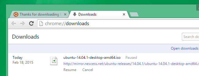 chrome can resume downloads with these files