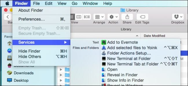 How to Open Terminal in the Current OS X Finder Location
