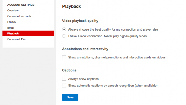How to disable annotations on youtube videos so you dont have to enable them manually from the video settings theres also the video playback quality option so you can specify if youtube ccuart Choice Image