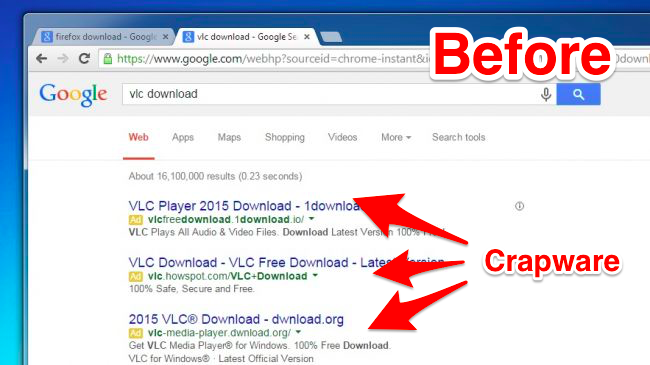 Google is Now Blocking Crapware in Search Results, Ads, and