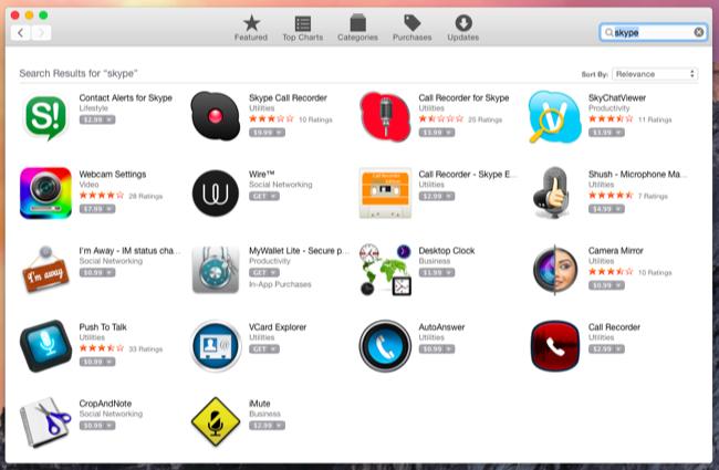 Correct App store display