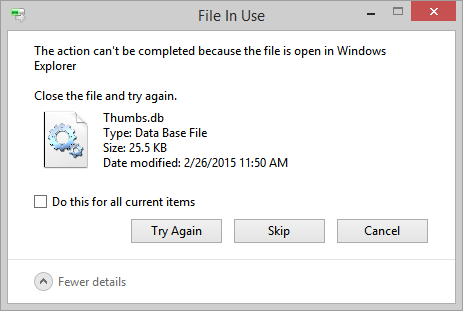"Fix ""File In Use"" Deletion Errors On Network Drives by Disabling"