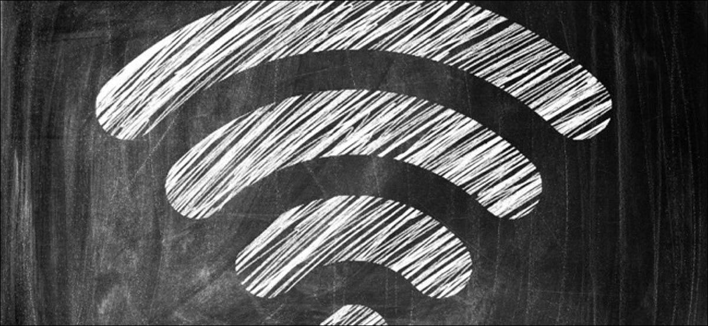 Wireless Symbol Drawn on a Blackboard