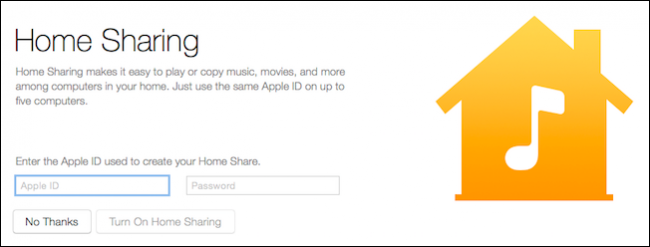 itune home sharing