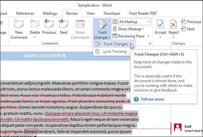 how to copy and paste text with tracked changes in word 2013