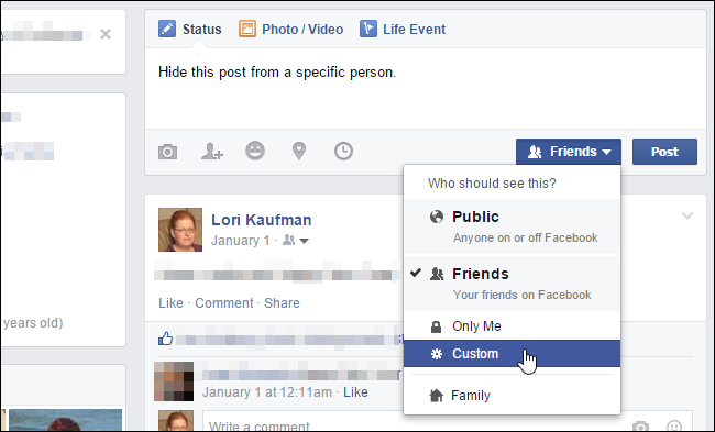 Hide a Comment on Facebook