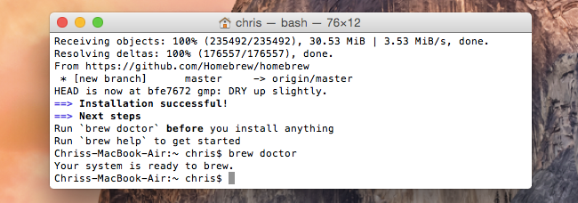 How to install homebrew