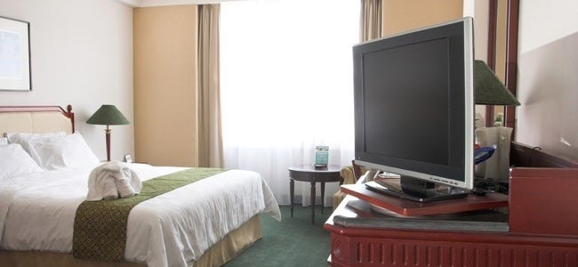 Lcd Television In Five Star Hotel Room