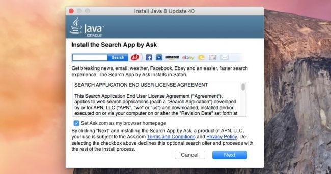 Java On Os X Is Bundling Crapware Heres How To Make It Stop
