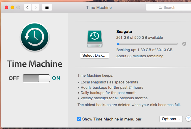 How to Free Up Space Used By Time Machine's Local Backups on