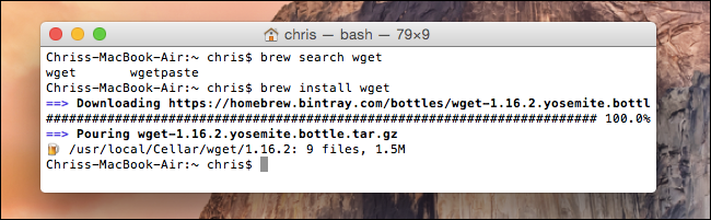 install with homebrew