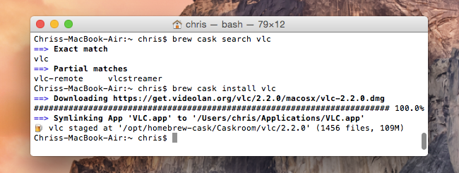 homebrew cask search install