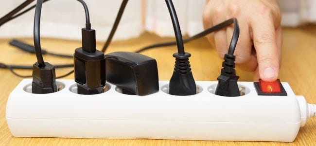 Energy Savings With Turning Off Electrical Liances