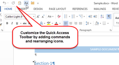 How to Customize the Quick Access Toolbar in Office 2013