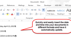 How to Easily Insert the Formatted Date and Time in Microsoft Word