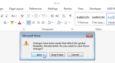 How to Get Notified When Word Wants to Save Changes to the Normal Template