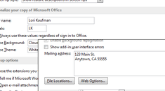 How to Set the User Information in Word 2013