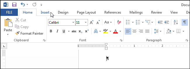 ms word how to insert a document icon