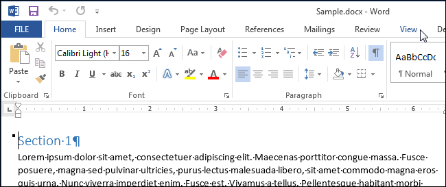 how to view multiple pages at once in word