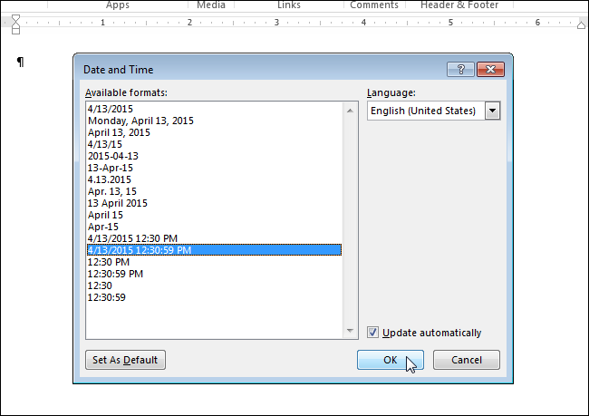 How to Easily Insert the Formatted Date and Time in ...