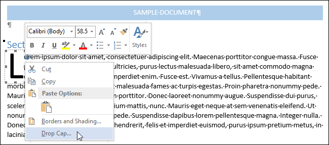 04b_selecting_drop_cap_popup_menu
