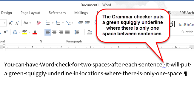 How to change the space after a period from 2 spaces to 1 space on microsoft word?