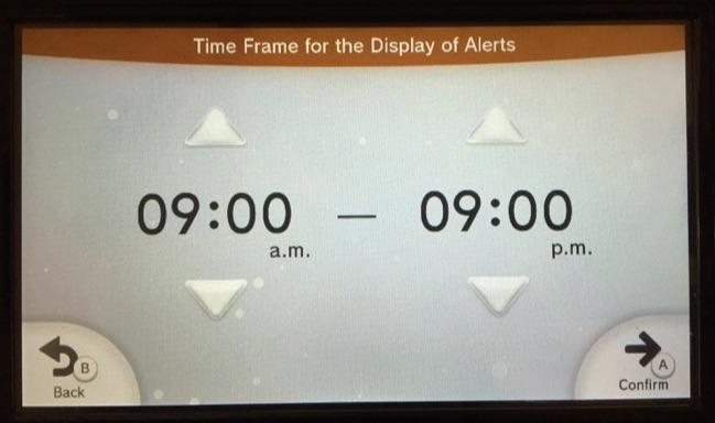 alert time