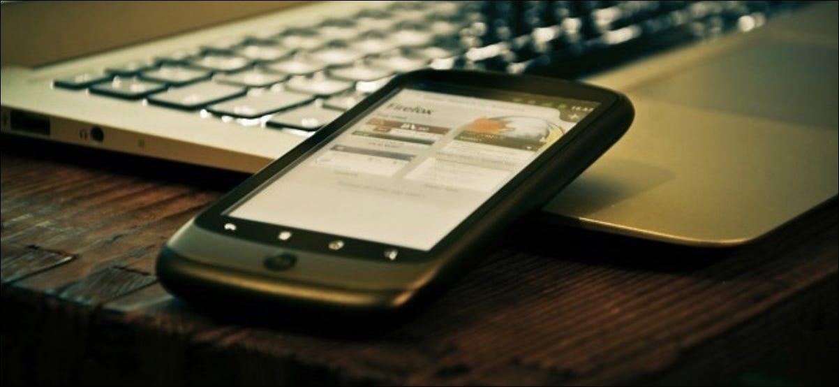android phone and laptop