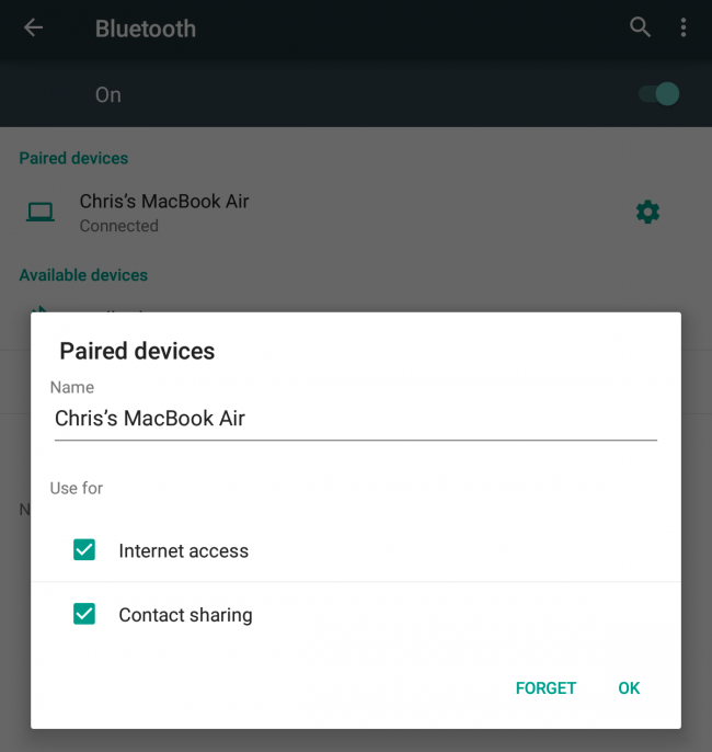 How to share pc internet with android phone using bluetooth