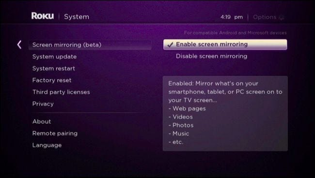 Android Device S Screen On Your Roku, How To Screen Mirror Windows 7 Roku
