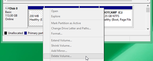 How to Remove an EFI System Partition or GPT Protective Partition From a Drive in Windows