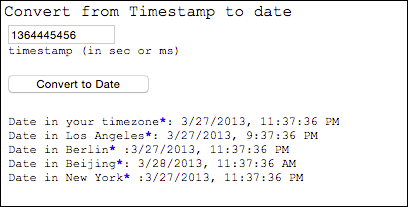 Convert date to timestamp online