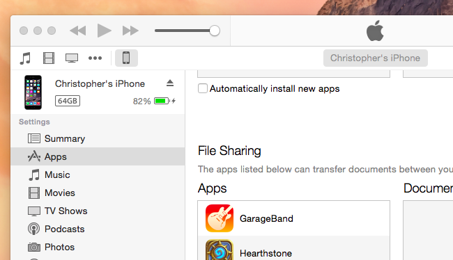 Use iTunes File Sharing to Copy Files Back and Forth With Apps on