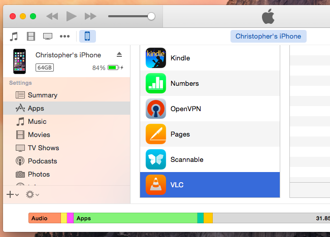 Use iTunes File Sharing to Copy Files Back and Forth With