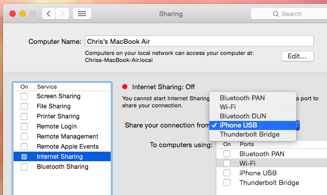 How to Share Internet from a Mac to Other Computers & Devices