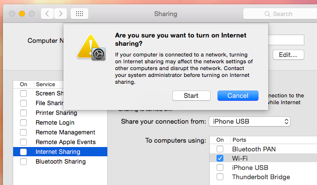 connect iphone hotspot to macbook